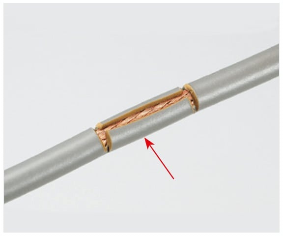 Corte de recubrimiento de alambre eléctrico