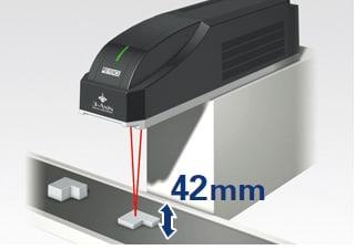 Marcado con un marcador láser 3D a distancias focales de hasta 42 mm